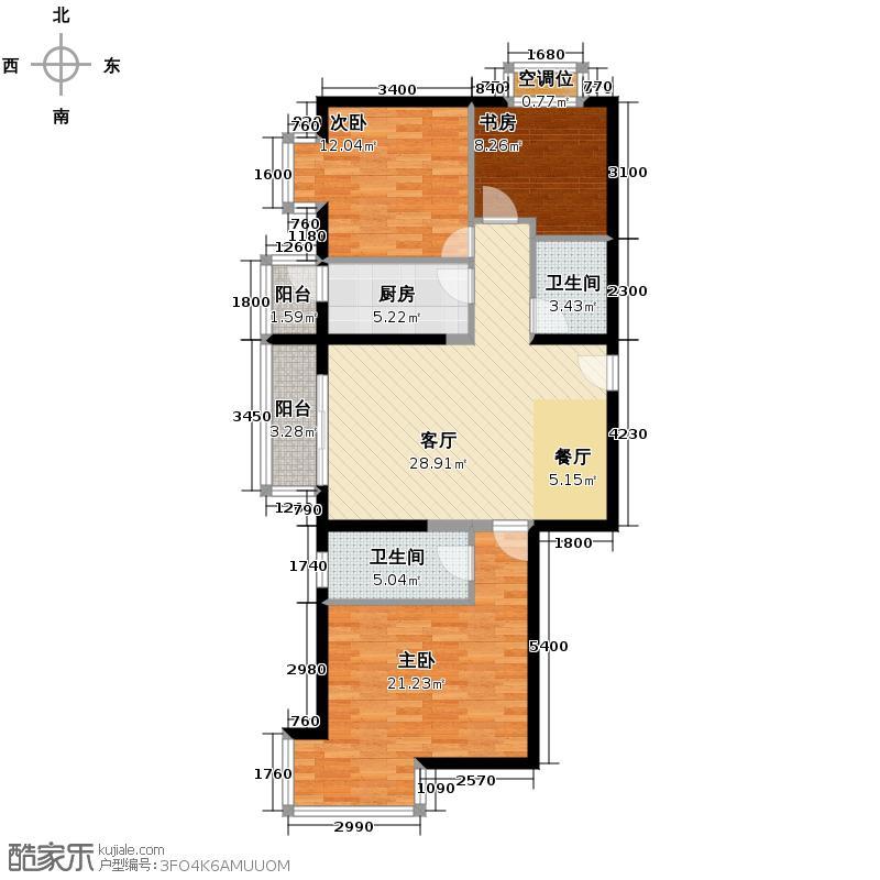 瑞雪春堂118.82㎡10号楼C8户型3室2厅2卫