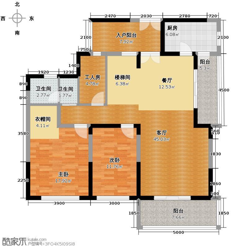 戛纳湾181.72㎡B型可变方案2下层户型10室
