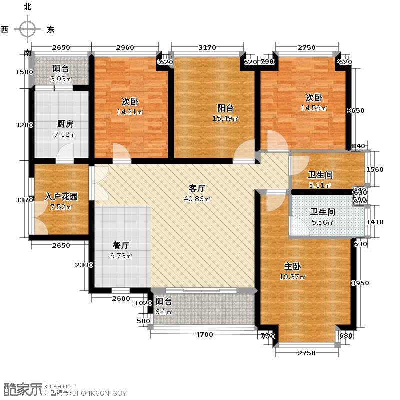 南城都汇御天下146.00㎡2011年3期汇馨园2、5、6、7、12、13栋3-17层--户型3室1厅2卫1厨