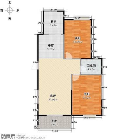 艺树澜庭2室2厅1卫0厨101.00㎡户型图