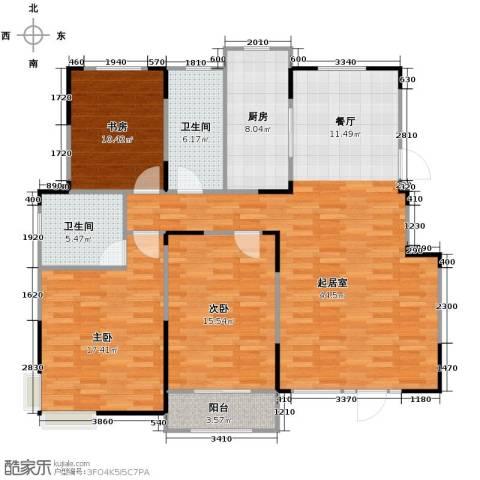 心泊馨城3室2厅2卫0厨137.00㎡户型图