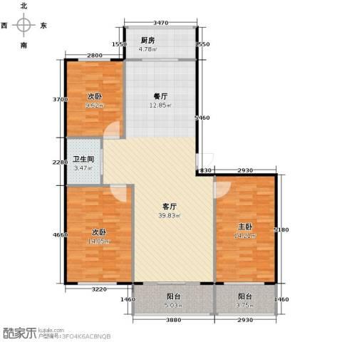 佳兴幸福家3室1厅1卫1厨127.00㎡户型图