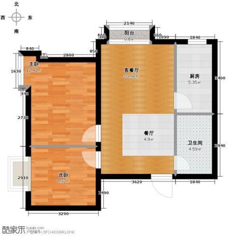 新兴中山八号2室2厅1卫0厨71.00㎡户型图