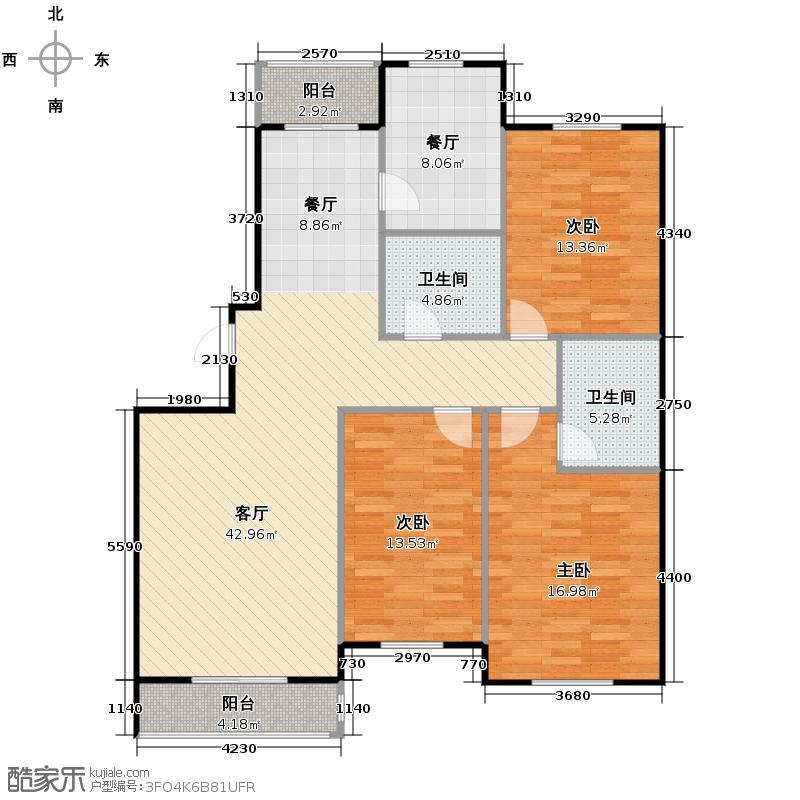 胜利鑫城120.36㎡户型10室