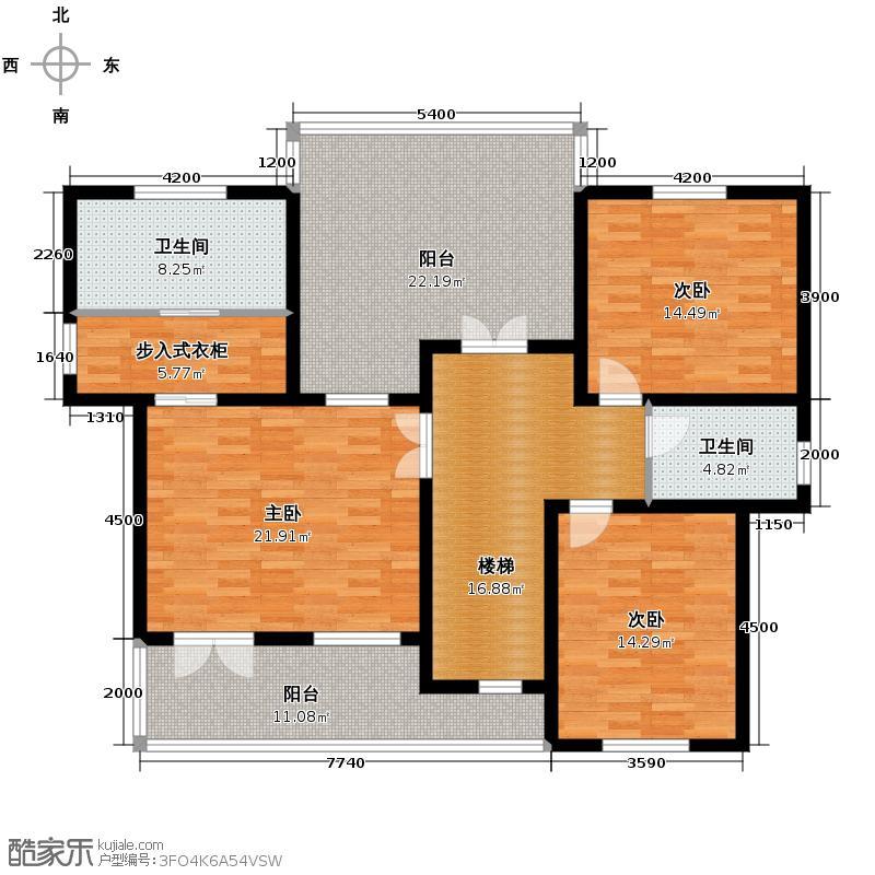 �海卢卡多堡380.00㎡C二层平面图户型10室