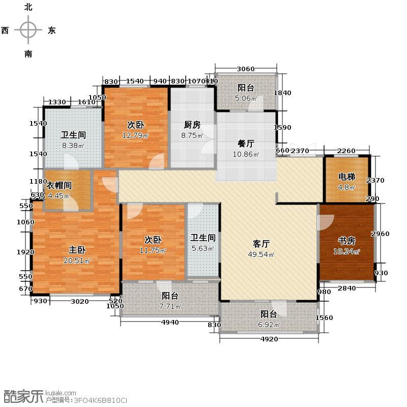 新地阿尔法国际社区166.10㎡户型10室