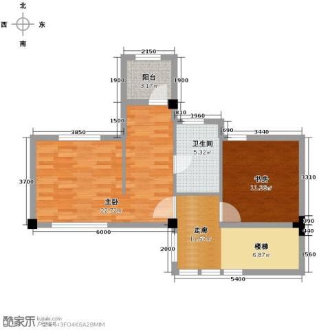 联发滨海琴墅3室0厅1卫0厨61.00㎡户型图