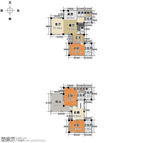 远洋假日养生庄园3室2厅4卫0厨195.00㎡户型图