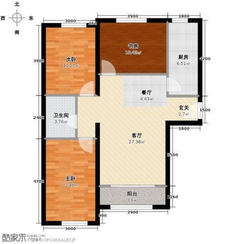 纳帕澜郡3室2厅1卫0厨107.00㎡户型图