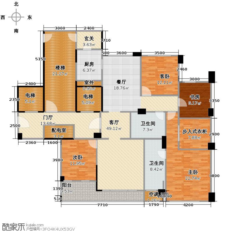 赛丽绿城慧园186.00㎡D户型4室1厅2卫1厨