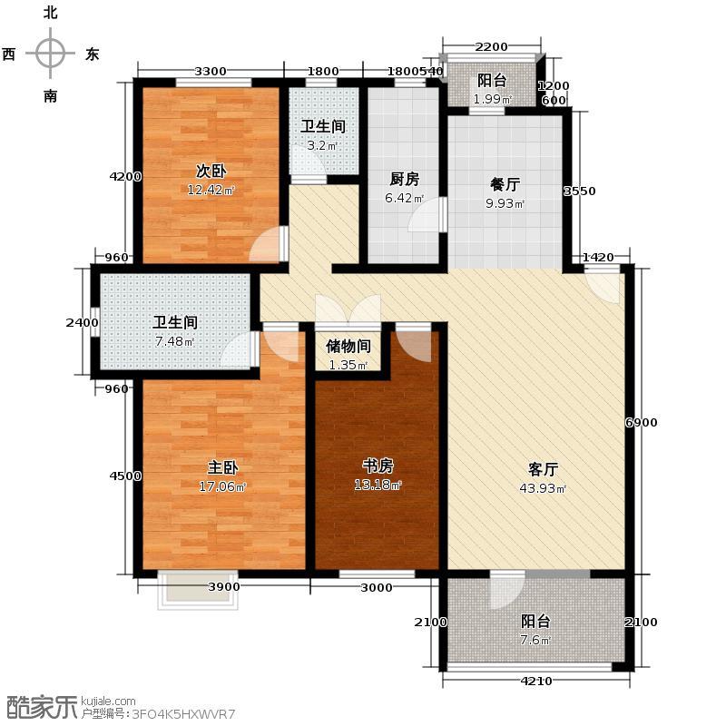 华韵欧风博文苑129.37㎡B1-1面积14612m2户型10室