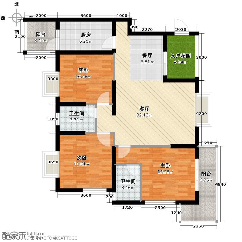 兰卡威122.12㎡J-3型户型3室2厅2卫