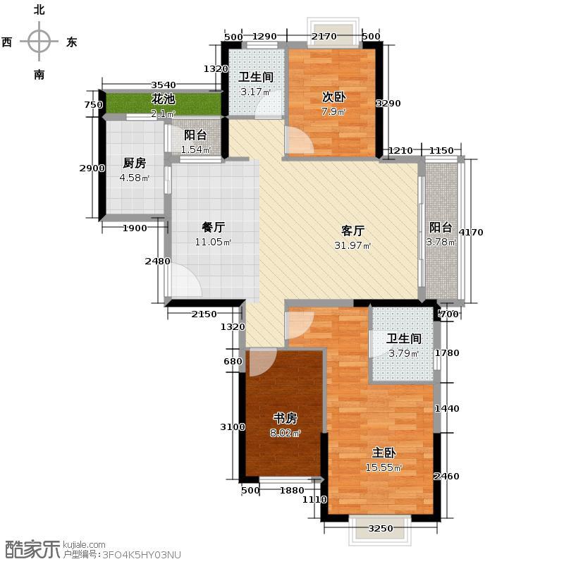 城南故事113.00㎡C7户型3室2厅2卫