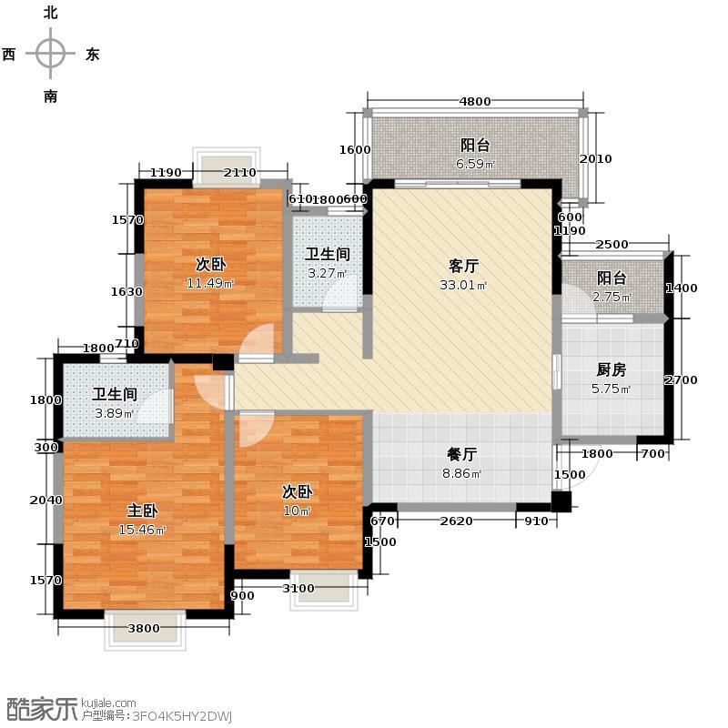 东山国际新城103.76㎡一期A户型10室