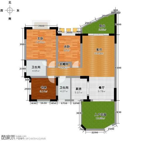 天骄年华3室1厅2卫1厨104.00㎡户型图
