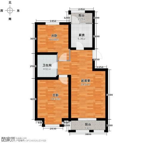 泰达星海湾2室2厅1卫0厨83.00㎡户型图