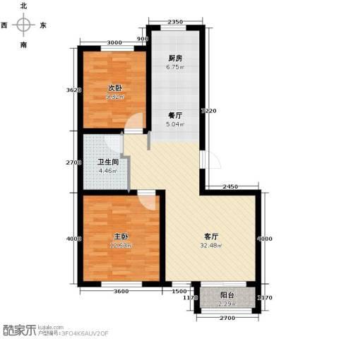 荣馨园2室2厅1卫0厨89.00㎡户型图