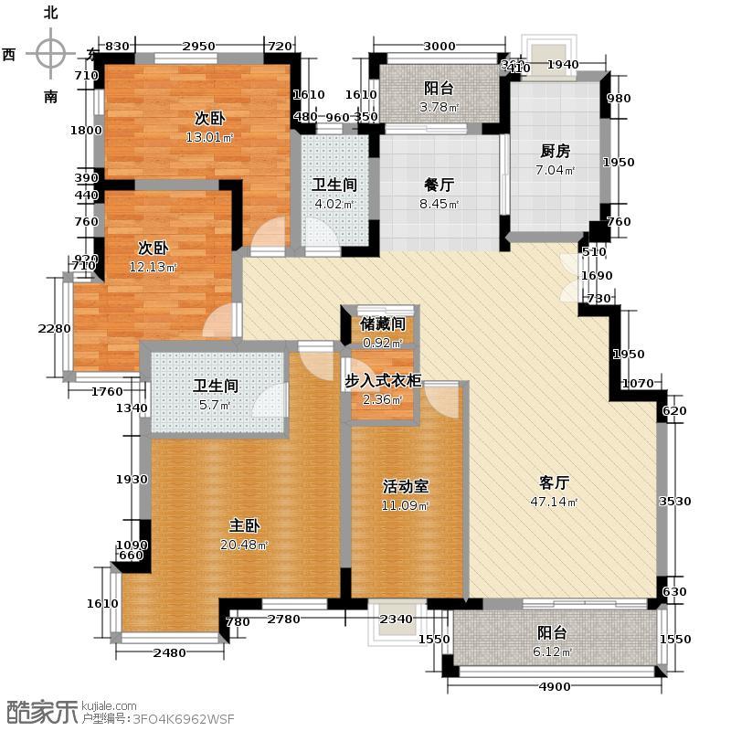 北京奥林匹克花园153.13㎡G2户型10室