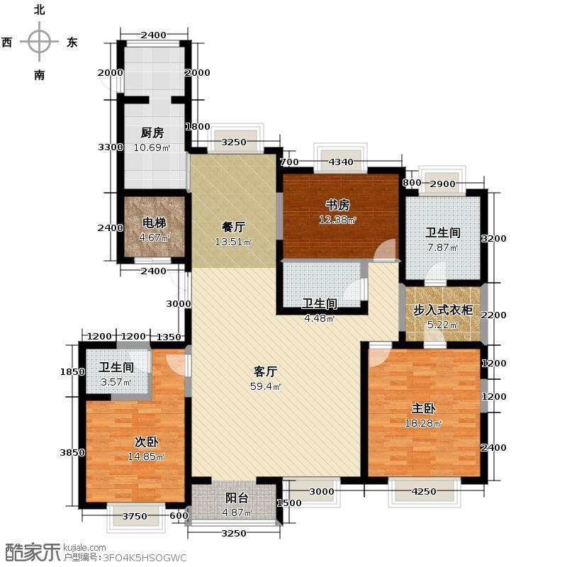 海河大道宽景公寓160.17㎡12号楼2门标准02户型10室