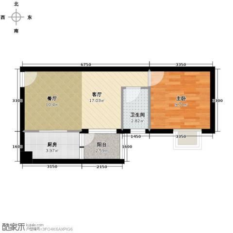 华标荔苑1室1厅1卫0厨46.00㎡户型图