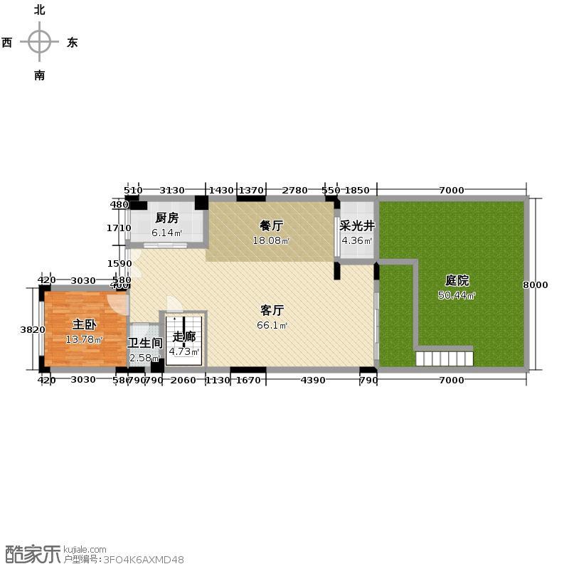 雅居乐小院流溪106.00㎡D型联排别墅首层户型10室