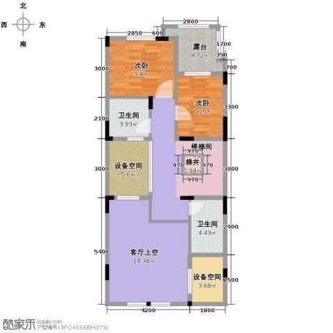 隆鑫72府2室0厅2卫0厨166.00㎡户型图