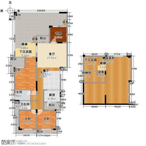 金科天湖小镇3室2厅2卫0厨262.72㎡户型图