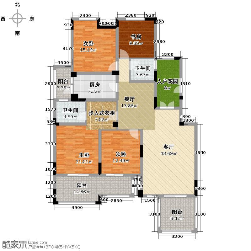 金科东方大院154.00㎡A-3户型10室