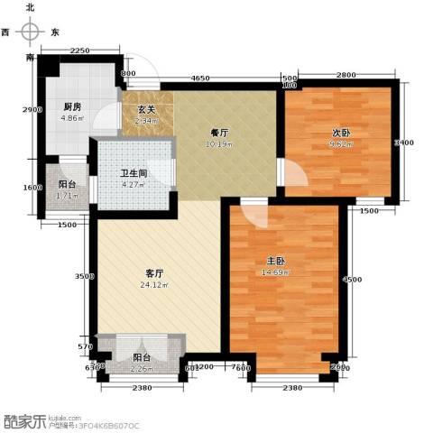 世茂生态城2室2厅1卫0厨89.00㎡户型图