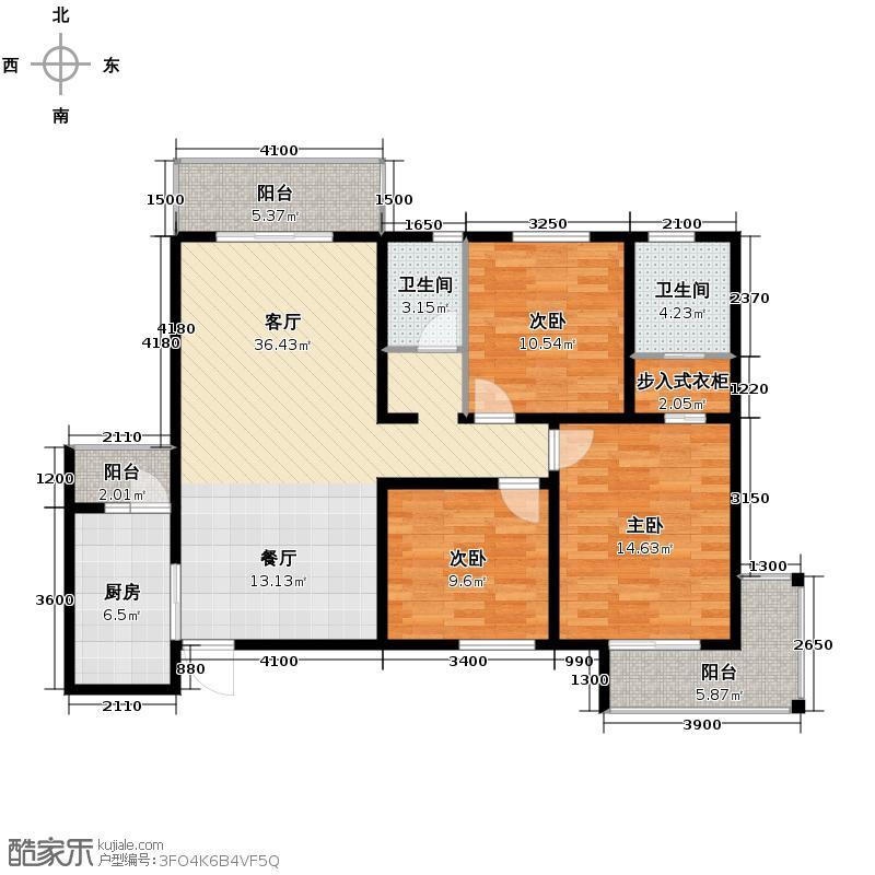 风憬天下112.91㎡4#5#楼A户型10室