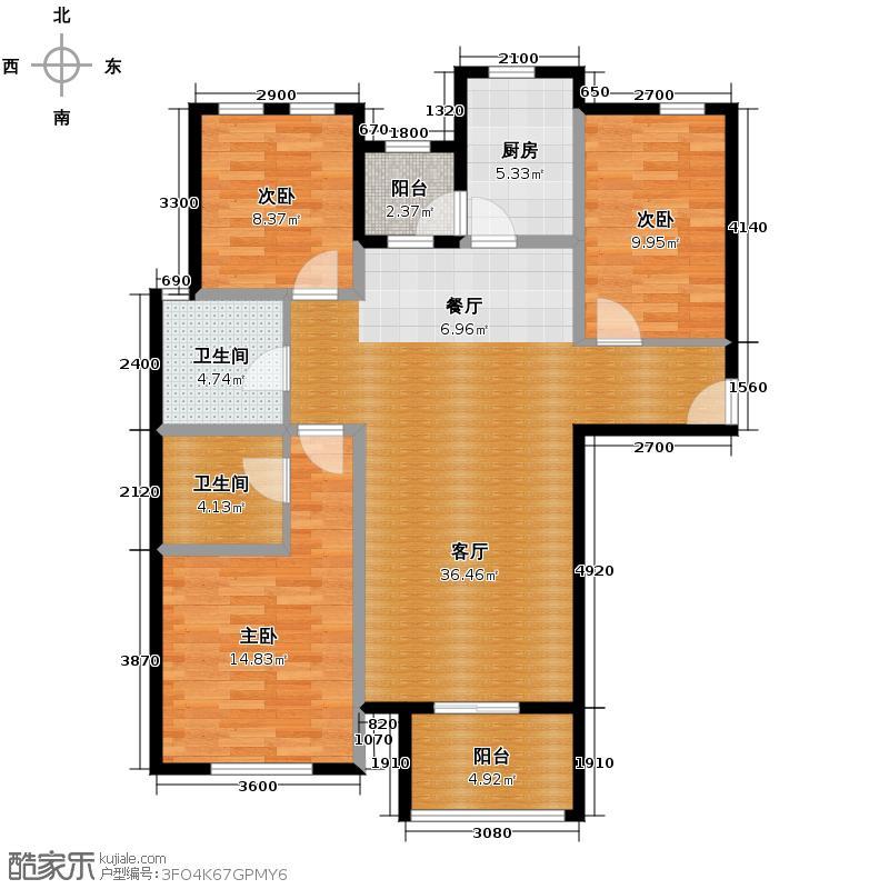 世嘉光织谷112.14㎡1、2#楼C5户型3室1厅2卫1厨