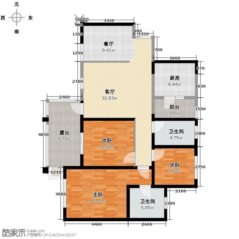 龙城国际101.00㎡13号楼偶数层A5户型10室