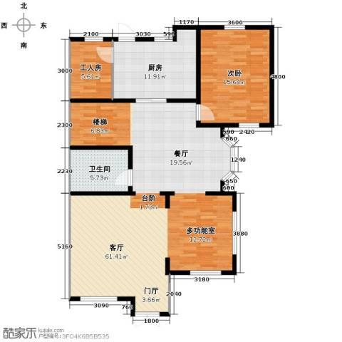 大宁山庄1室1厅1卫1厨136.00㎡户型图