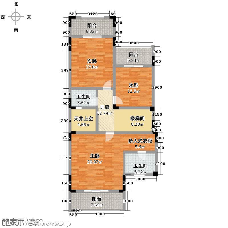 金科东方大院78.73㎡K三层平面图户型10室