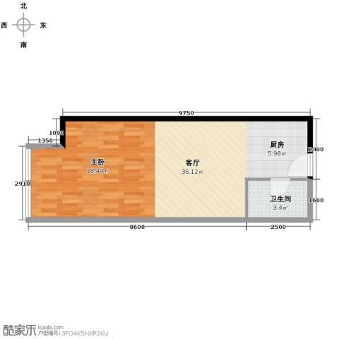 融汇新时代1厅1卫0厨54.00㎡户型图