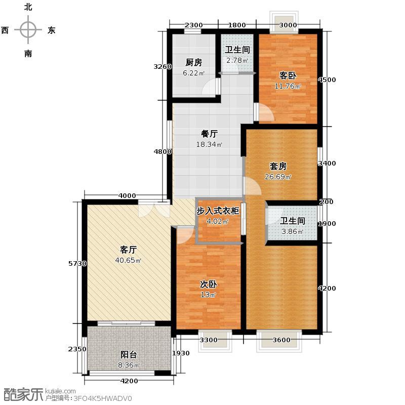 锦绣世纪158.28㎡B9栋户型10室