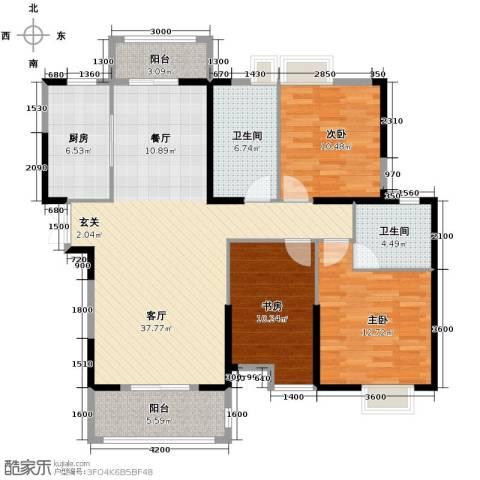 联投半岛3室2厅2卫0厨134.00㎡户型图