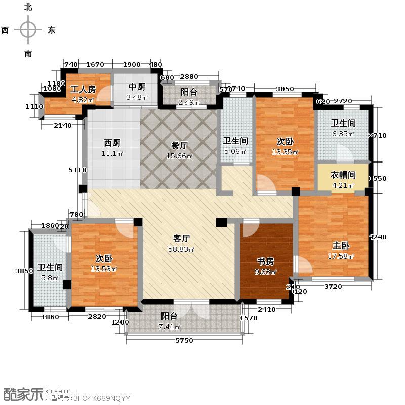 新地阿尔法国际社区168.42㎡户型10室