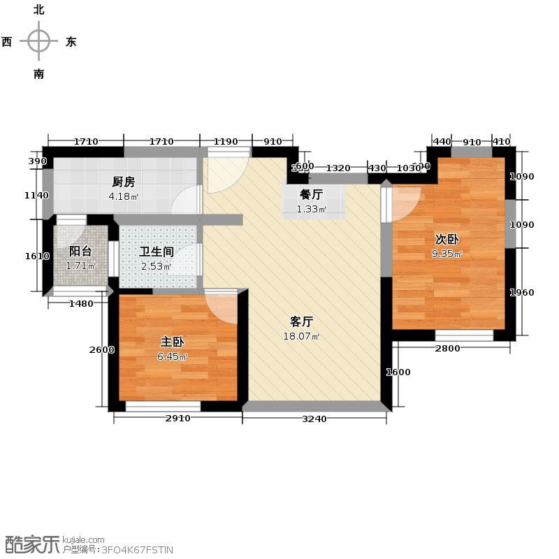 滨海欣嘉园92.22㎡1B户型2室2厅1卫