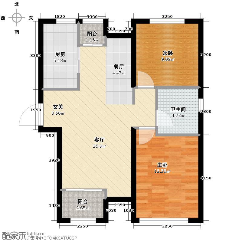 天津诺德中心89.00㎡E户型2室1厅1卫1厨