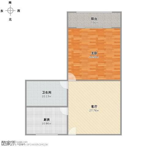 临沂大楼1室1厅1卫1厨110.00㎡户型图