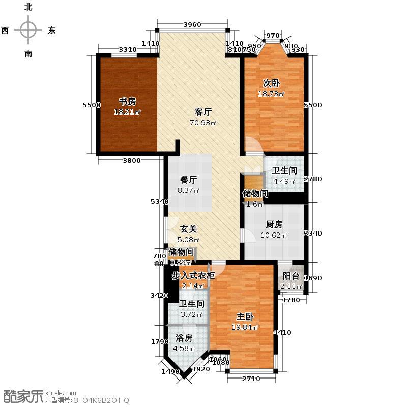 公园1872191.42㎡2号楼B3已售罄户型3室2厅2卫