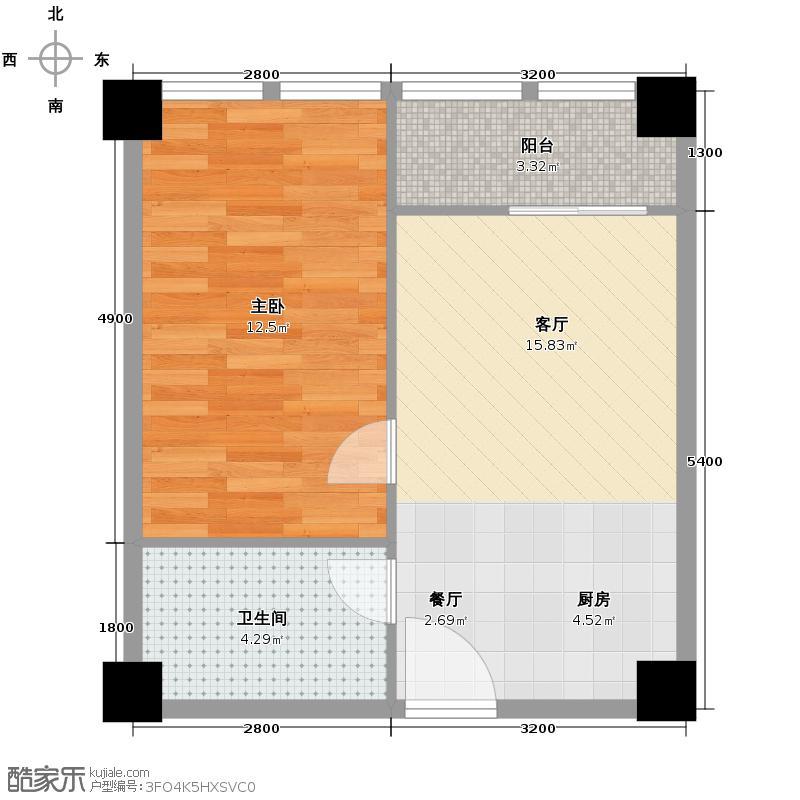 金荣央谷金座53.54㎡A1户型10室