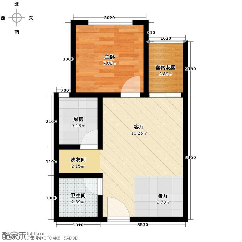 紫翰庭院49.00㎡D户型1室1厅1卫