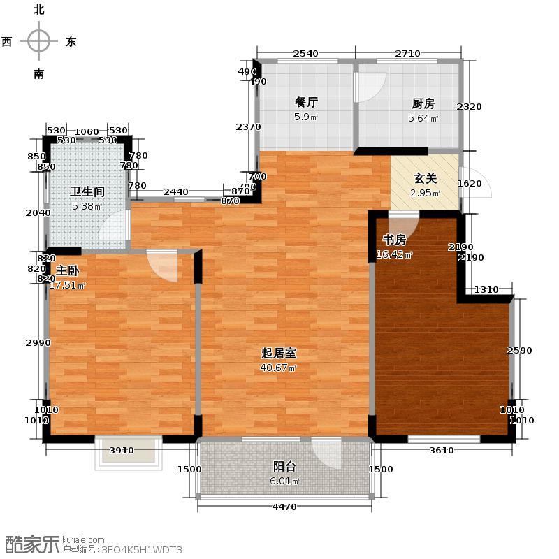 津滨藏锦112.00㎡2-C户型2室2厅1卫