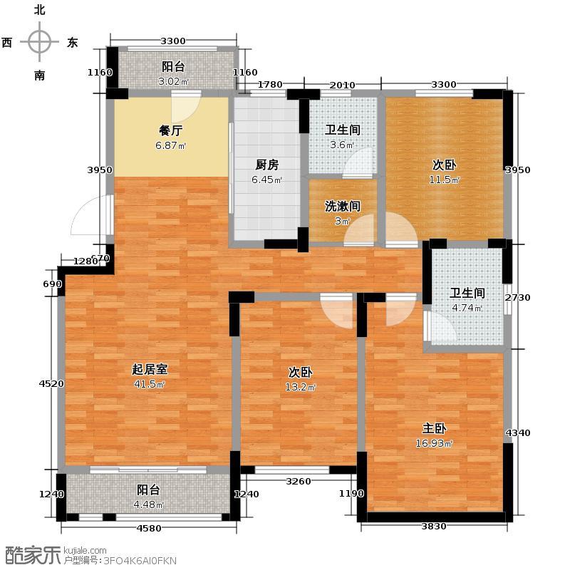 松江城洋房135.03㎡02户型3室2厅2卫