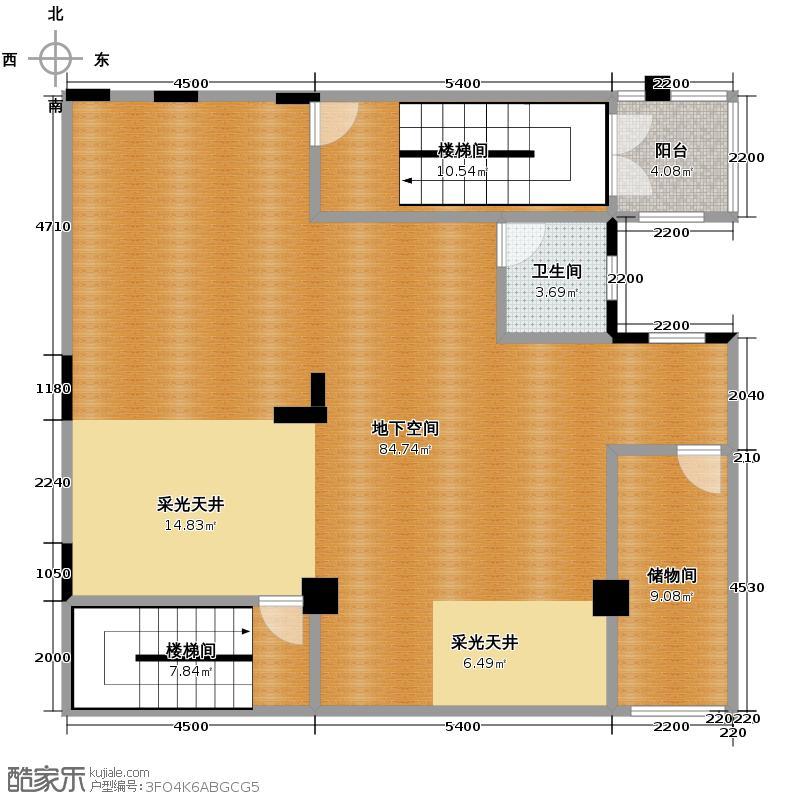 中粮祥云国际生活区483.20㎡叠墅A负一层户型10室