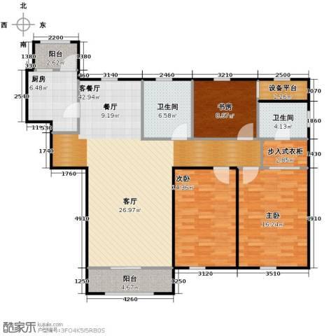 荣馨园3室2厅2卫0厨149.00㎡户型图