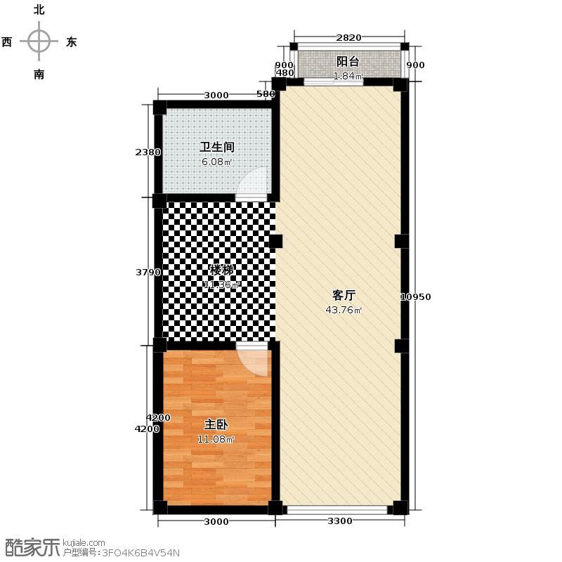 大唐壹号领馆69.80㎡1号楼10半地下层户型10室
