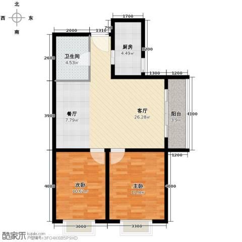 启新18892室1厅1卫1厨87.00㎡户型图